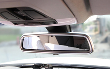 1pcs Inner Rear View Mirror Cover Trim For Land Rover LR4 Discovery 4 2010-2015(China)