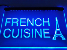 LB437- French Cuisine Cafe Restaurant   LED Neon Light Sign    home decor  crafts