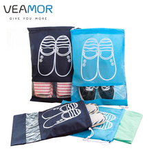 VEAMOR Dropship Travel Shoes Bags for Women Dustproof Cover Shoes Bags Non-Woven Travel Beam Port Shoes Storage Bags 8pcs(China)