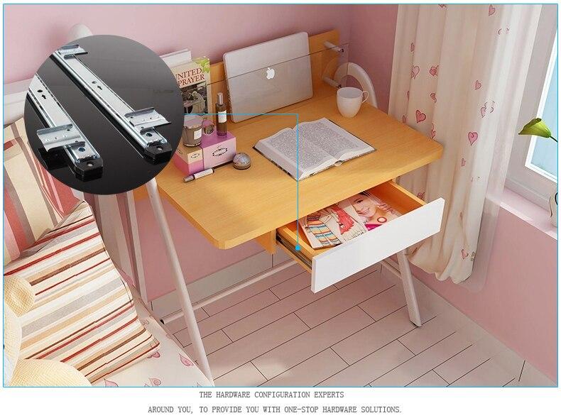 35MM muted slide furniture hardware drawer rail computer desk slide Keyboard drawer track ball lifting bottom bracket<br>