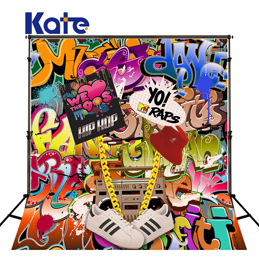 Kate Graffiti Wall Camera Fotografica Fashion Art Naturism Children Photos Photography Background Letter Photo Studio Props<br>