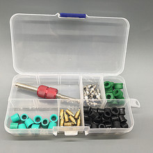 R134A Valve Core Air Conditioning Tube Tools Connector Kit Assortment Seals Rubber Rings A Box(China)