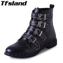 Buy Autumn Winter Women PU Suede Leather Boots Sexy Female Rivets Ankle Boots Short Snow Boots Zipper Buckles Walking Shoes Sneakers for $20.99 in AliExpress store
