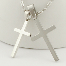 Fashion Jewelry Accessories,Crucifix Lovers Pendant Necklace for Men Women Silver Color Charms Small Cute Cross jewellery,WP845(China)