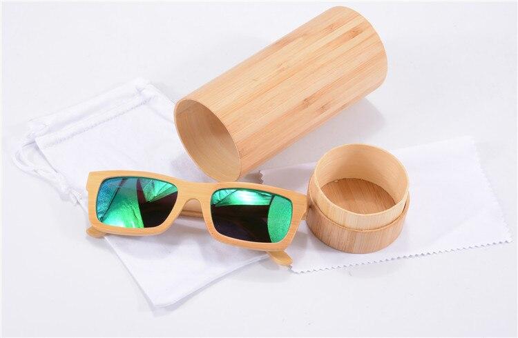 Handmade Natural Bamboo Wood Sunglasses Polarized Green Revo Glasses Women Brand Designer Eyewear Mirror Coating Oculos Sol 6033<br><br>Aliexpress