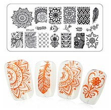 Buy 12pcs/Lot Christmas Nail Art Stamping Plates Manicure DIY Kit Image Plastic Nail Templates Stencils Salon Beauty Polish Tools for $5.25 in AliExpress store