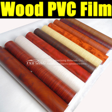 Free shipping 30CMX124CM PVC Wood film , Wood grain PVC film with high quality