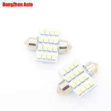 Dongzhen Auto 12V 31mm 16 LED Car C5W C10W Festoon Dome Light Indicators Interior Lamp Reading Pathway Light Source Bulb SV8,5