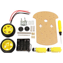 High Quality 2017 Smart Motor Robot Car Battery Box Chassis Kit DIY Speed Encoder For Arduino RC Robot Toys Boy Gifts