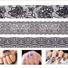 Lace Nail Stickers Nail Accessories Beauty Design Stickers for Nails All for Manicure Minx Nail Art Stickers Wraps MJ1031