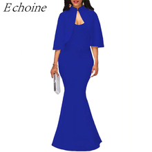 Buy Echoine Sexy Dress Two Piece Suits Spaghetti Straps Floor Length Mermaid Dress Cloaks Designer Elegant Evening Party Dress for $16.22 in AliExpress store