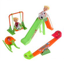 Families Doll Furniture Dollhouse Children's Seesaw Doll Pretending Toy Sets