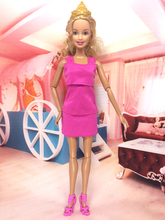 NK Original Dress For Barbie Pink Dress Party Gown for Original Doll Baby Toys  Best Gifts For Child B036