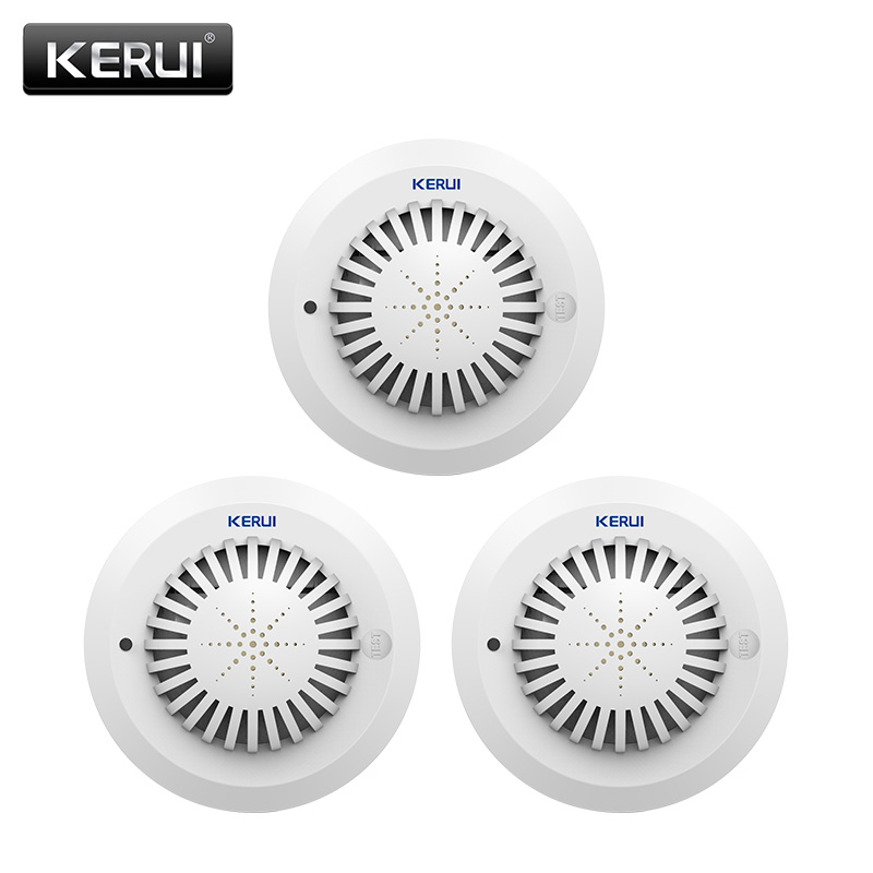 KERUI SD03 High Sensitivity Voice Prompts  Low Battery Remind Fire Smoke Detector/Sensor linkage With Kerui Home Alarm System<br>