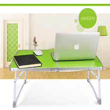 Aluminum Folding Portable Camping Table Picnic Table Party Pc Laptop Desk Notebook Computer Bed Tray desk(China)