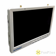 Aomway HD588 10 Inch Display Receiver 5.8G 40CH Diversity FPV HD Monitor 1920 X 1200 with DVR Build In Battery for FPV