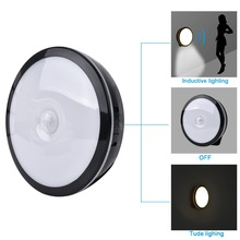 Espow Motion Sensor bright LED Night Light Wireless Rechargeable Build-in Lithium Battery Cabinet Bedside Home light(China)