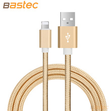 Bastec Ultra Durable Nylon Braided Wire Metal Plug Data Sync Charging Data Phone USB Cable for iPhone 7 6 6s Plus 5s 5 iPad Air