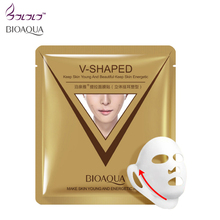 brand sheet mask face care facial chin V shaped lifting collagen face masks cosmetic firming whitening bioaqua beauty mask face