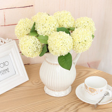 Buy yellow flowers small and get free shipping on aliexpress mini ball hydrangea artificial flower fake flower mightylinksfo