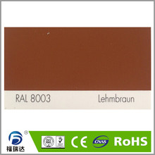 hybird polyester epoxy resin spray powder coating RAL8003 Clay brown