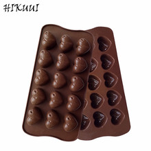 Non-stick Silicone Chocolate Molds Rose Love Heart Shaped Jelly Ice Molds Cake Mould Bakeware Baking Tools