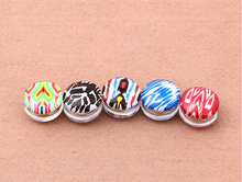 NEW DESIGN women's fashion printe Hijab pins with magnet brooches muslim hijab scarf 48pcs/lot mix color order(China)