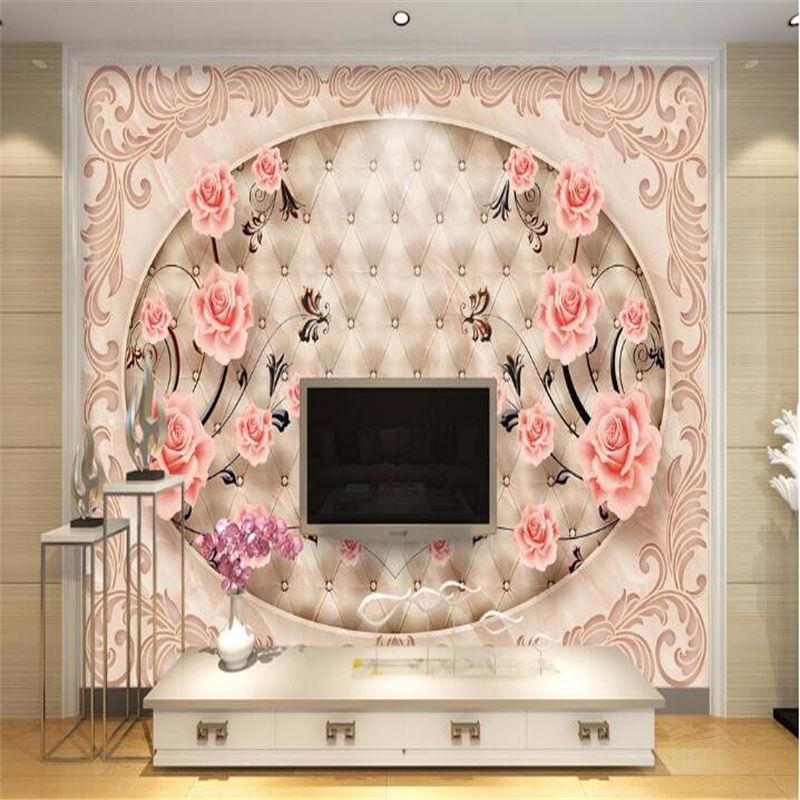 The mural on the wall wallpaper soft bag rose photos large murals murals 3 d sitting room sofa background 3 d   wallpaper <br><br>Aliexpress