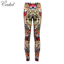 Sexy! Hot! Graffiti 3D Print Tiger Leggings Women High Waist Super Soft Sexy Slim Pencil Pants Push Up Leggins Mujer Plus Size