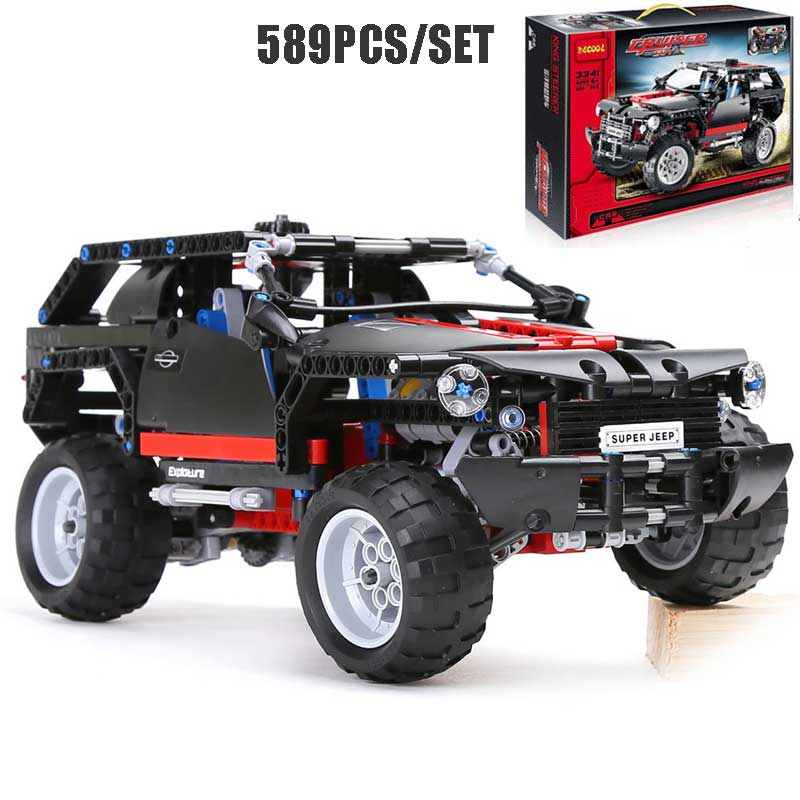 589PCS King Steerer Transport Cruiser SUV Technic Truck Classic Racing Car Model Building Blocks Bricks Toys For Kids Xmas Gifts<br>