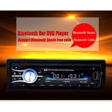 Universal 1 DIN 12V Stereo Car Radio CD/ DVD Player Bluetooth (Hand Free Calls/ Music) FM SD/ MMC Card AUX Input USB Charger
