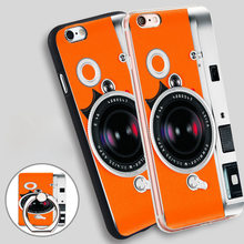 camera orange Soft TPU Silicone Phone Case Cover for iPhone 4 4S 5C 5 SE 5S 6 6S 7 Plus