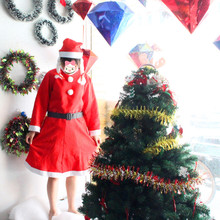 Long Sleeves Christmas Costume Dress Set Mrs Santa Claus Dress Costume Hot sale sexy Christmas Santa Costume for Women