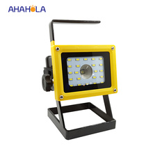 10w rechargeable spotlight led floodlight l2 volt waterproof ip65 outdoor led projector refletor lamp cree t6 led No battery(China)