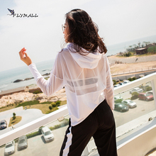 Fitness Breathable Outwear Women T Shirt Suit Loose Top 2017 Quick-Dry Comfortable Shirt Clothes Hooded Casual Shirt Jacket New(China)