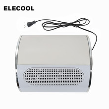 ELECOOL Nail Suction Dust Collector Machine 3 Fan Dust Collector ABS High Quality 220V Low Noisy Durable Nail Dust Collectors