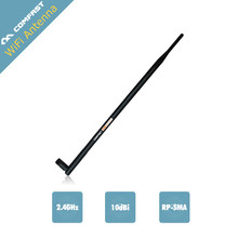 3Pc/ Lot ! Comfast WIFI Antenna 2.4 GHz 10dBi SMA FeMale Wireless WLAN Black Floding Omni Router Card Antenna
