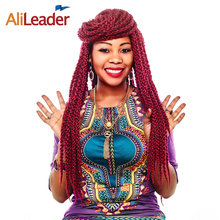 AliLeader 22 Inch Long Crochet Braids 4S Cubic Twist Braid 3D Hair Style Ombre Braiding Hair Kanekalon Synthetic Hair Extensions