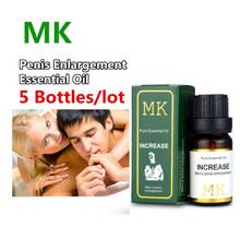 Buy 5Bottles MK Erotic Penis Enlargement Essential Oil 10ml Sex Aphrodisiac Men Increase Penis Oil Growth Extension Permanent