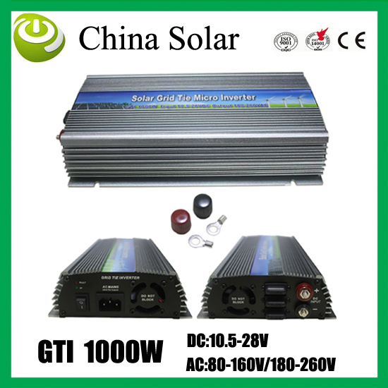 Solar panel system inverter GTI 1000W grid power free shipping(China (Mainland))