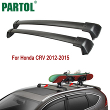 Partol Black Car Roof Rack Cross Bar Crossbars Top Box Cargo Luggage Carrier Roof Rack Cross bars 150LBS For Honda CRV 2012-2015(China)