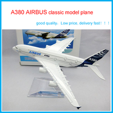 Cheerleading Souvenirs A380 Airbus airplane models  High Quality metal airlines plane model wholesale, airbus prototype machine