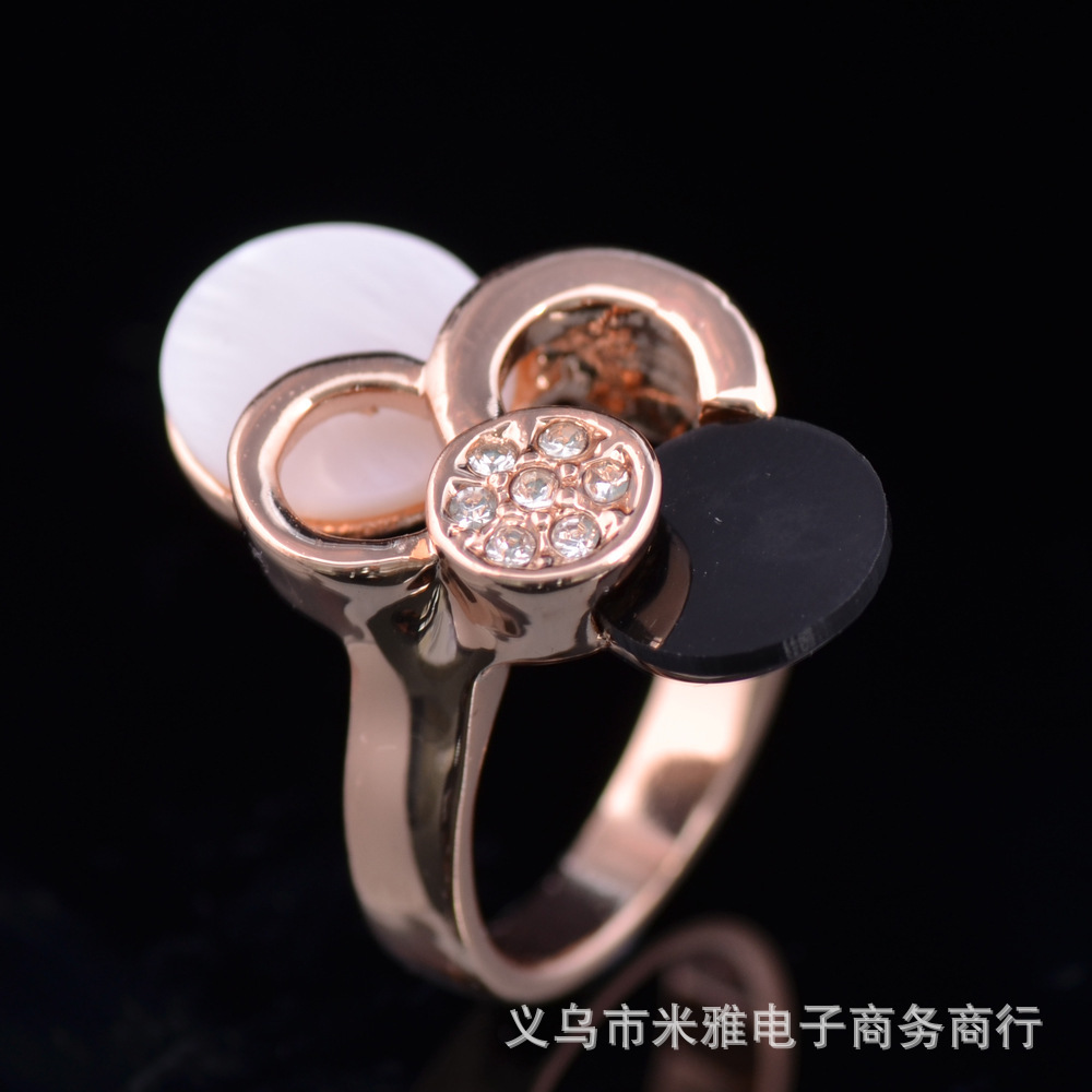 Gold Plated Noble O Ring O Creative Romantic Luxury The Shell Flower