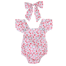 Floral Newborn Baby Girl Romper Bodysuit Jumpsuit Sunsuit Clothes 0-18M UK Stock baby girl outfit