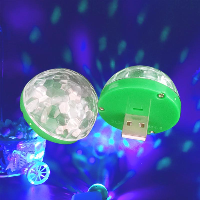 Led Lamp USB Mini Magic Stage Light DC 5V Portable RGB LED Neon Light Crystal Rotating Ball Color Change With Music Rhythm (3)