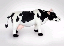 stuffed animal 44 cm plush standing cow toy simulation dairy cattle doll great gift w501