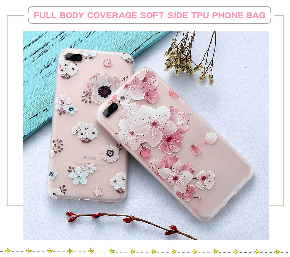 For iPhone 6 6S iPhone 7 Plus Soft TPU Silicon Phone Cover (4)