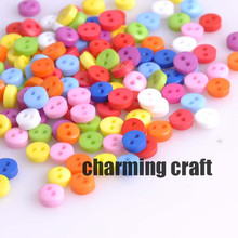 Mixed seed Round Resin Sewing Buttons for Scrapbooking craft Fashion Accessories 300pcs 6mm YKL0293x(China)