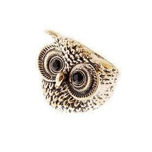 R023 Korea cute Owl Ring,Ancient Retro cute owl ring New style free shipping(China)