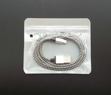 100pcs/lot 11.5*9.5cm White Clear micro USB cable Zipper Plastic Packaging poly pp bag Retail Package bags No logo bags